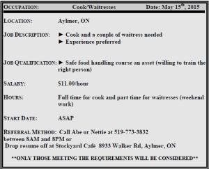 CookWaitress