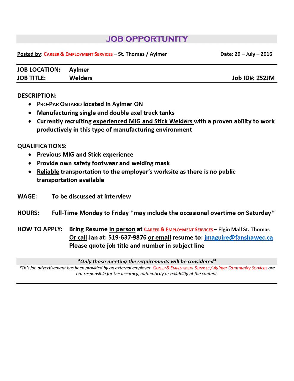 16.08.04.ProPar job ad