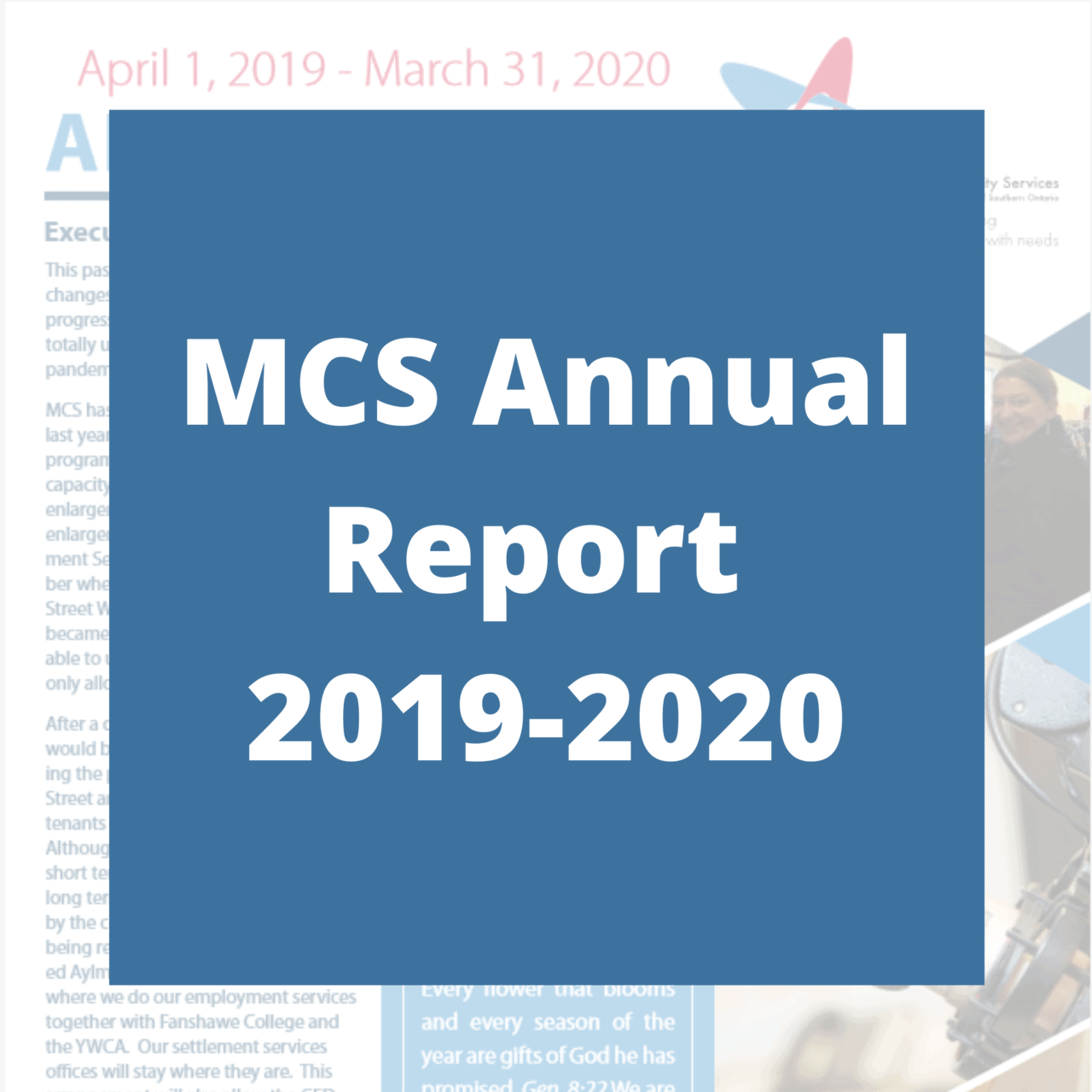 Click here for PDF of MCS Annual Report