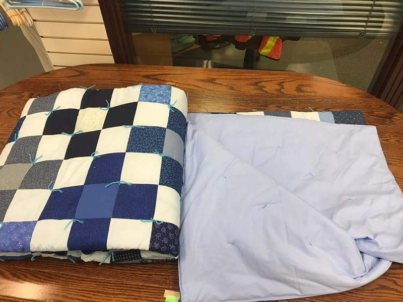 "This comforter is machine stitched, in the traditional Mennonite style and is as cozy as it is warm Dimensions are 87"" x 97"" Starting bid is $150. Bid and view at"